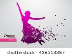 silhouette of a dancing girl of ...   Shutterstock .eps vector #436513387