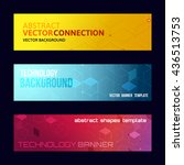 three abstract banners... | Shutterstock .eps vector #436513753
