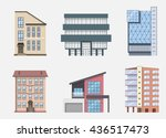 real estate building icons and... | Shutterstock .eps vector #436517473