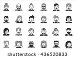 line icons set with flat design ... | Shutterstock .eps vector #436520833