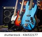 bass guitar  rhythm guitar ... | Shutterstock . vector #436522177