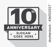 10th anniversary logo. vector... | Shutterstock .eps vector #436523317
