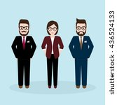 three businesspeople character  ... | Shutterstock .eps vector #436524133