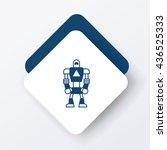 robot icon | Shutterstock .eps vector #436525333