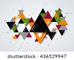 abstract modern background with ... | Shutterstock .eps vector #436529947