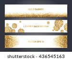 abstract modern vector gold... | Shutterstock .eps vector #436545163