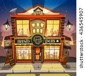 irish pub building cartoon... | Shutterstock .eps vector #436545907