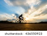 silhouette of cyclist in motion ... | Shutterstock . vector #436550923