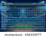 summer games sport schedule...   Shutterstock .eps vector #436553977