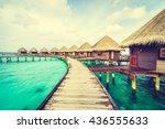 beautiful tropical maldives... | Shutterstock . vector #436555633