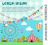 amusement park  ferris wheel ... | Shutterstock .eps vector #436580263