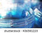 pile of blue acrylic rings | Shutterstock . vector #436581223