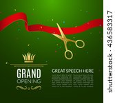 grand opening design template... | Shutterstock .eps vector #436583317