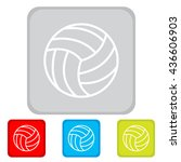 web line icon. volleyball | Shutterstock .eps vector #436606903