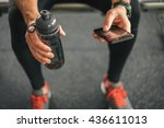 fitness man looking to the... | Shutterstock . vector #436611013