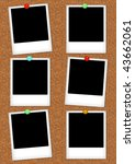 classic instant photo frames on ... | Shutterstock . vector #43662061
