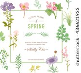 floral frame. invitation...   Shutterstock .eps vector #436621933