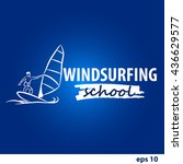 windsurfing vector illustration ... | Shutterstock .eps vector #436629577