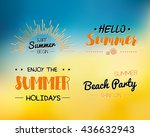 summer time logo templates.... | Shutterstock .eps vector #436632943