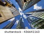 skyscrapers in midtown... | Shutterstock . vector #436641163