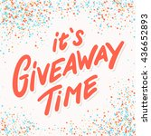 giveaway banner.   Shutterstock .eps vector #436652893
