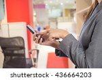 bussiness women  in office room.... | Shutterstock . vector #436664203