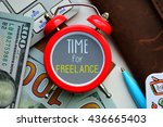 time for freelance. sign on red ... | Shutterstock . vector #436665403