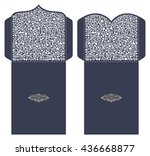 set of 2 wedding invitation... | Shutterstock .eps vector #436668877