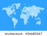 airline routes on worldwide map ... | Shutterstock .eps vector #436680367