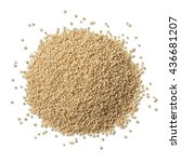 Small photo of Heap of raw amaranth seeds on white background