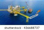offshore construction platform...   Shutterstock . vector #436688737