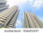 the new apartment building in... | Shutterstock . vector #436692457