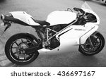 Small photo of Helsinki, Finland - May 21, 2016: Super bike Ducati 749, it is a V-twin Desmodromic valve actuated engine sport bike by Ducati Motor Holding between 2003 and 2006. Designed by Pierre Terblanche