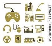 gamer icon set | Shutterstock .eps vector #436698187