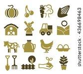 farm icon set | Shutterstock .eps vector #436698463