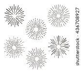 vector set of grungy burst... | Shutterstock .eps vector #436708927