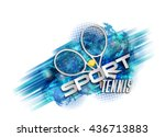 Abstract Blue Background Sport...