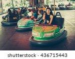 cute young woman having fun in... | Shutterstock . vector #436715443