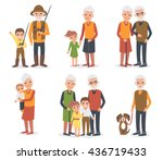 Elderly People In Different...