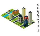 skyscrapers illustration.... | Shutterstock . vector #436720513