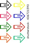 colored arrows | Shutterstock .eps vector #436721593