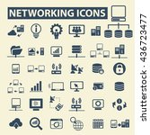 networking icons | Shutterstock .eps vector #436723477