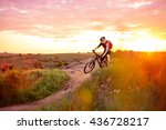 cyclist riding the bike on the... | Shutterstock . vector #436728217