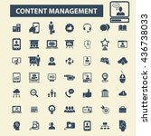 content management icons | Shutterstock .eps vector #436738033