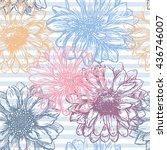 floral seamless pattern.... | Shutterstock .eps vector #436746007