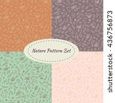 Set Of 4 Vector Seamless...