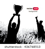 champions cup. poster  | Shutterstock .eps vector #436768513