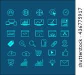 outline web icons set   search... | Shutterstock .eps vector #436775917