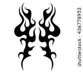 flame tattoo tribal vector... | Shutterstock .eps vector #436778953