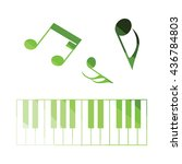 piano keyboard icon. flat color ...